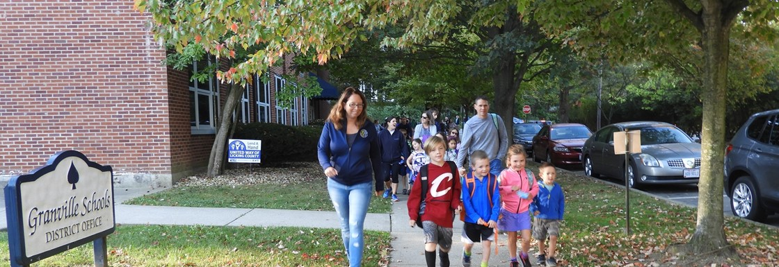 Walk to School Day for GES Students and Families