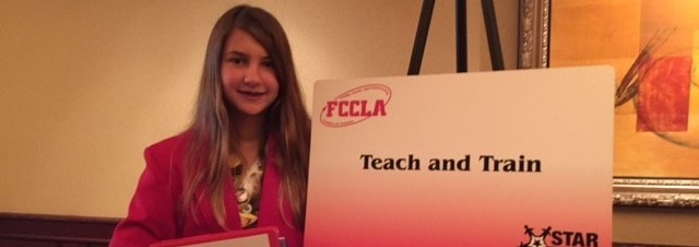 Kira Fuller wins gold medal at the National FCCLA Competition