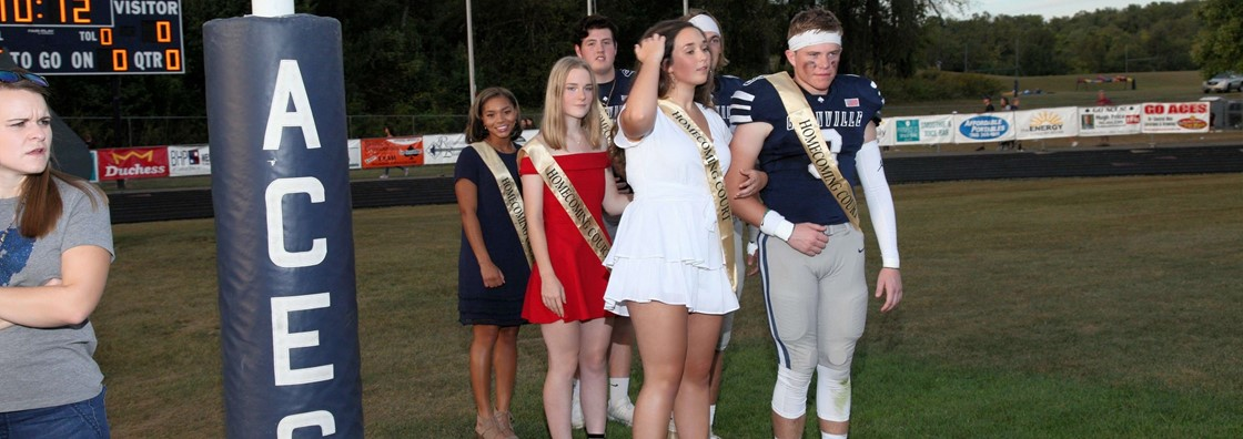 Homecoming Court on Field