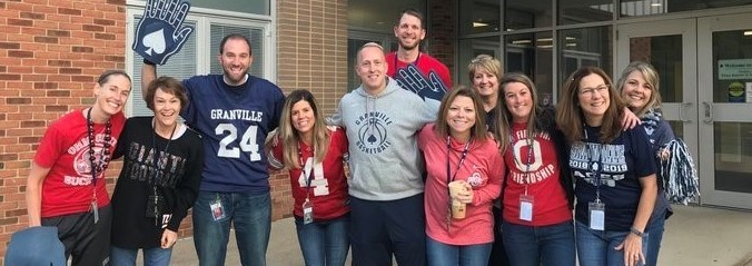GMS Staff have school spirit!